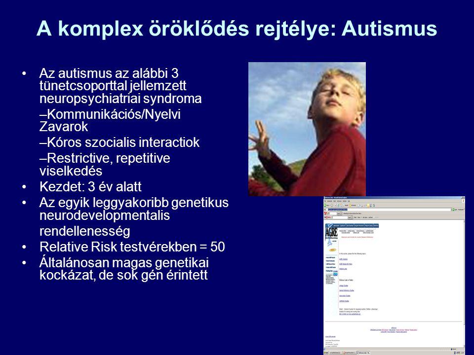 A komplex öröklődés rejtélye: Autismus