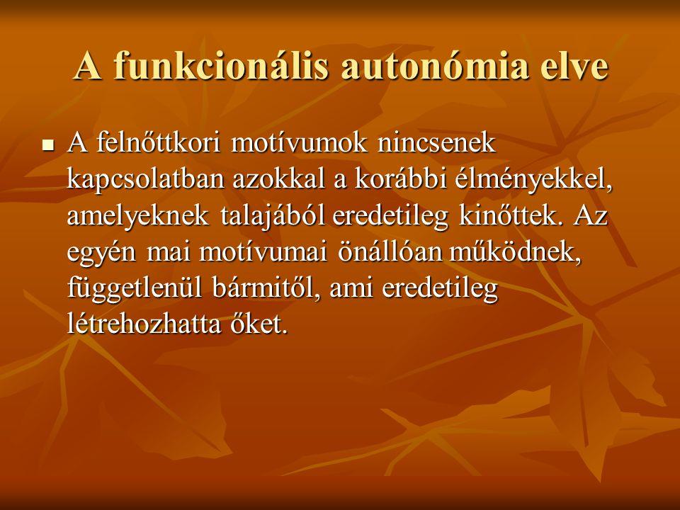 A funkcionális autonómia elve