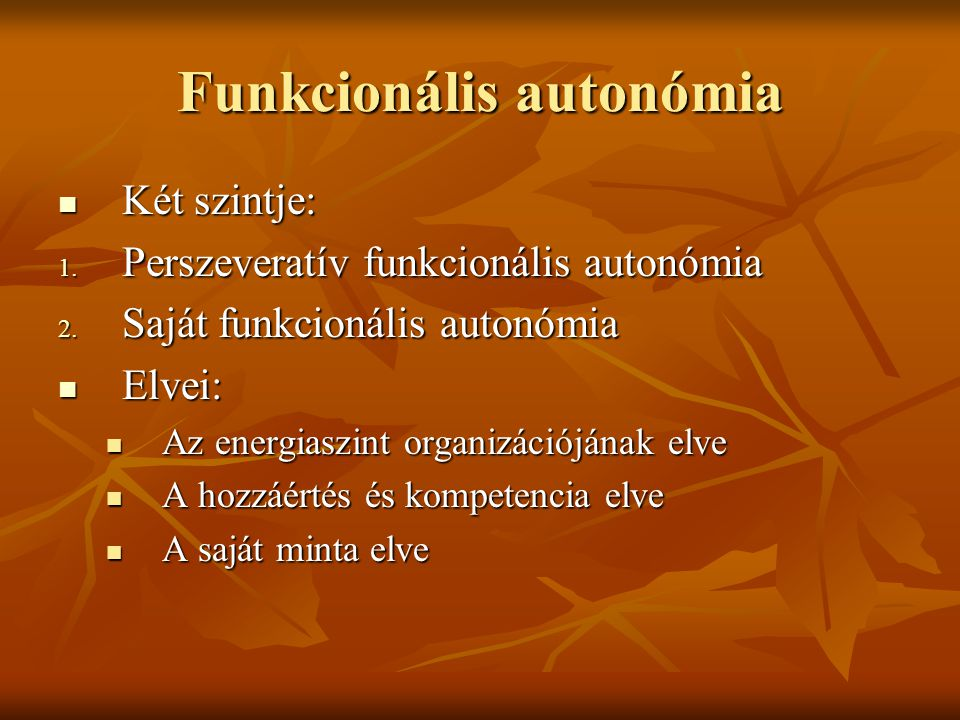 Funkcionális autonómia
