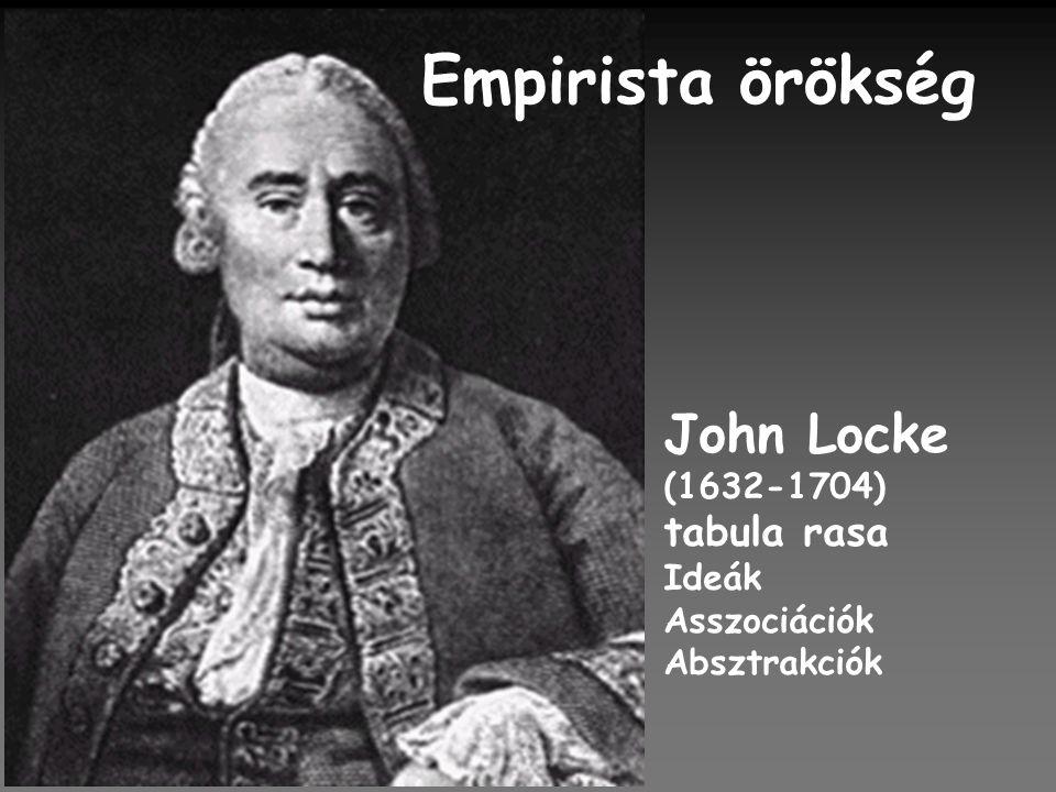 Empirista örökség John Locke tabula rasa (1632-1704) Ideák