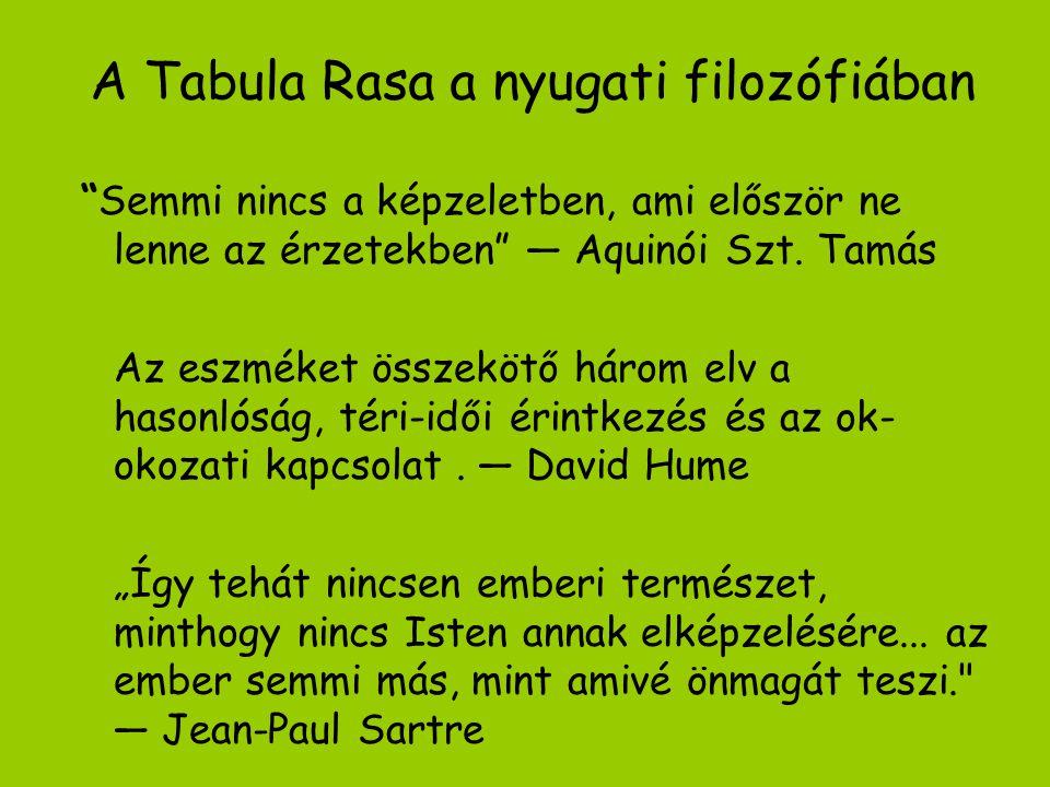 A Tabula Rasa a nyugati filozófiában