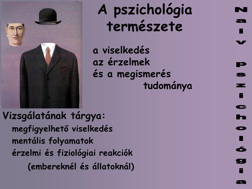 A pszichológia természete