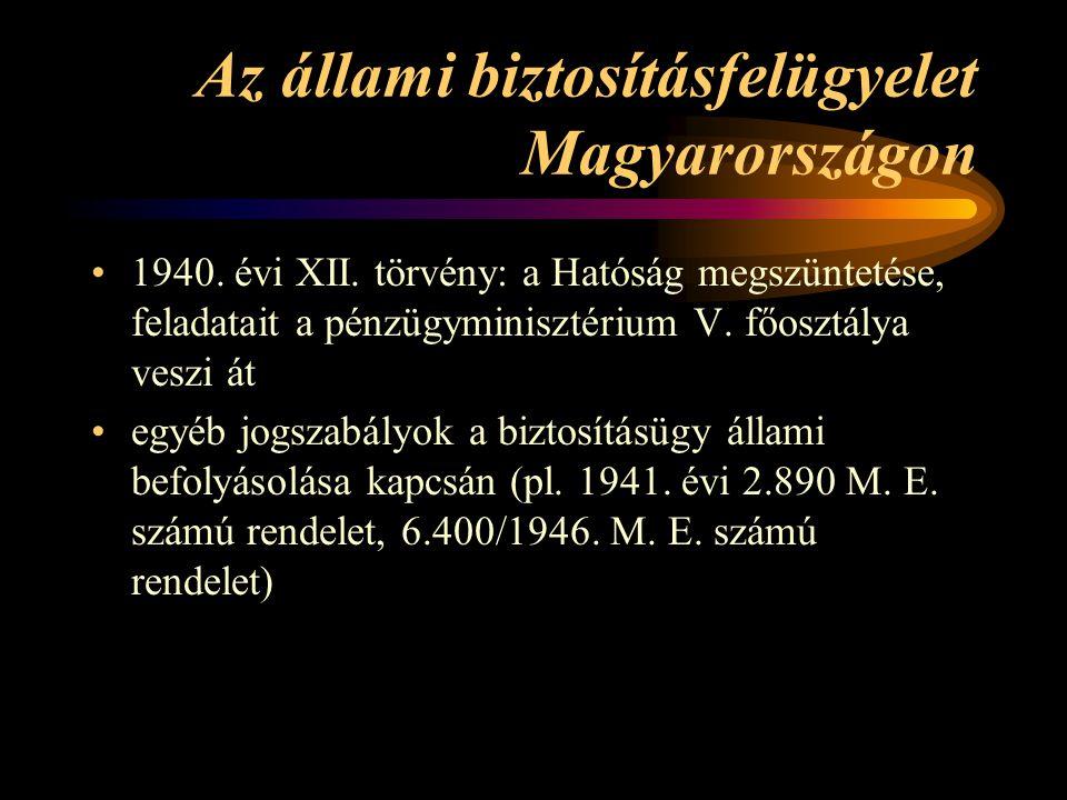 Az állami biztosításfelügyelet Magyarországon