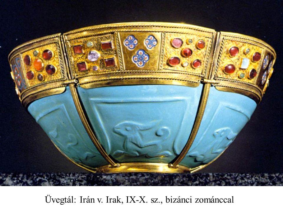 Üvegtál: Irán v. Irak, IX-X. sz., bizánci zománccal
