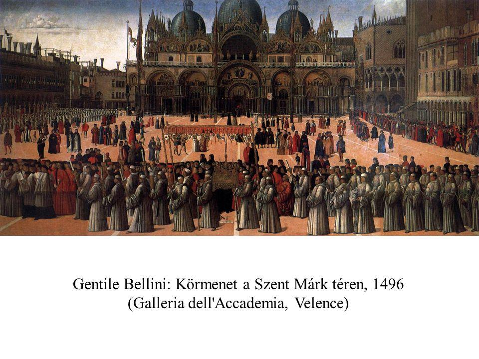 Gentile Bellini: Körmenet a Szent Márk téren, 1496