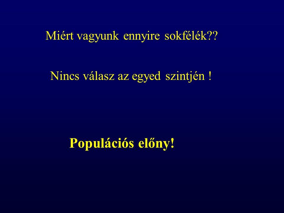 Populációs előny! Miért vagyunk ennyire sokfélék