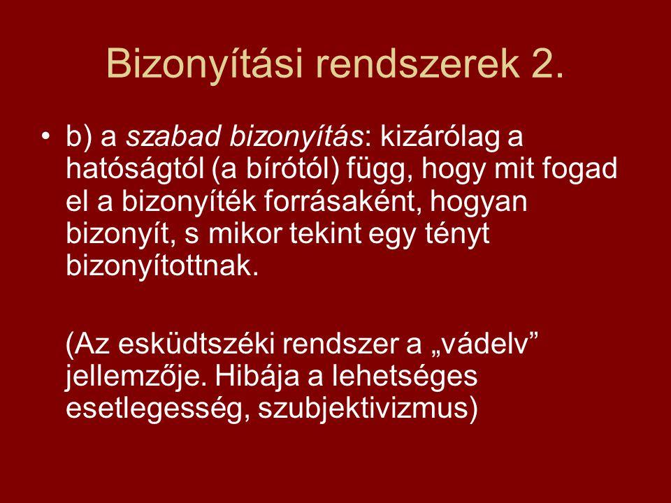 Bizonyítási rendszerek 2.