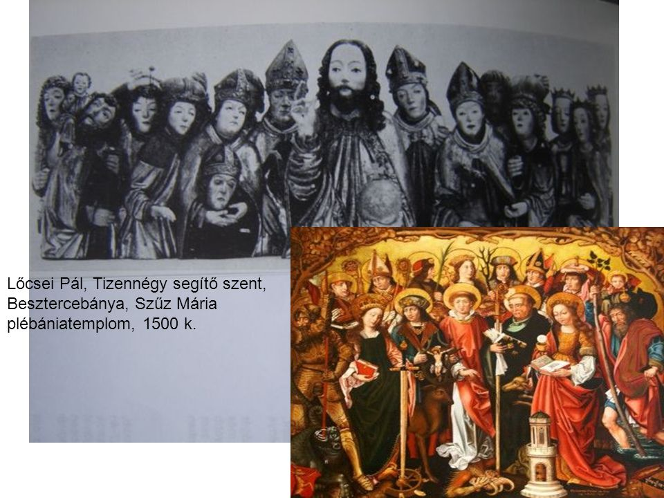 Lőcsei Pál, Tizennégy segítő szent, Besztercebánya, Szűz Mária plébániatemplom, 1500 k.