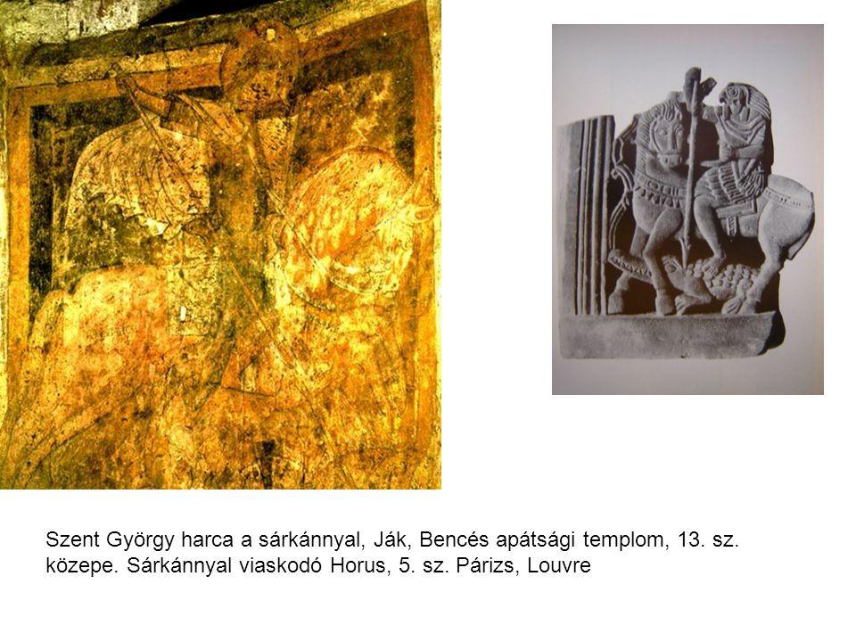 Szent György harca a sárkánnyal, Ják, Bencés apátsági templom, 13. sz