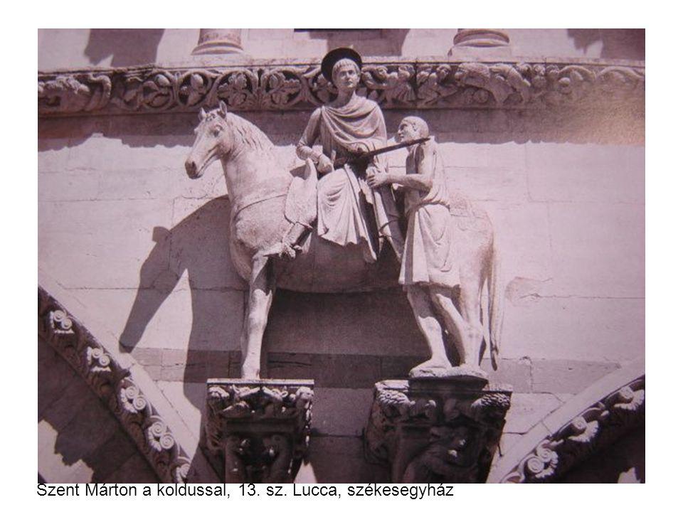 Szent Márton a koldussal, 13. sz. Lucca, székesegyház