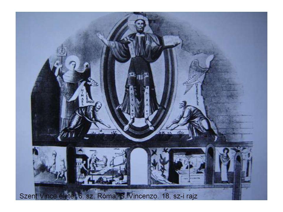 Szent Vince élete. 6. sz. Róma, S. Vincenzo. 18. sz-i rajz