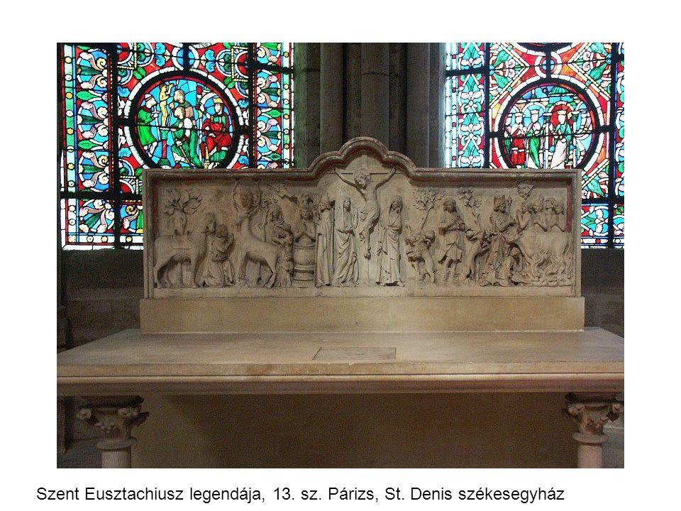 Szent Eusztachiusz legendája, 13. sz. Párizs, St. Denis székesegyház
