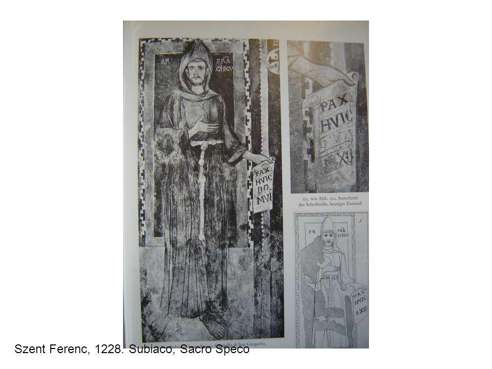 Szent Ferenc, 1228. Subiaco, Sacro Speco