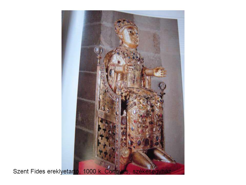 Szent Fides ereklyetartó, 1000 k. Conques, székesegyház