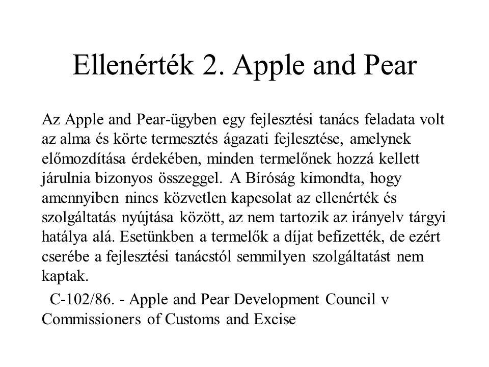 Ellenérték 2. Apple and Pear