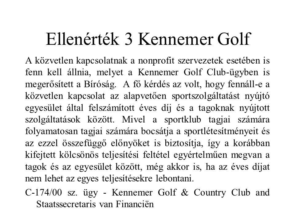 Ellenérték 3 Kennemer Golf