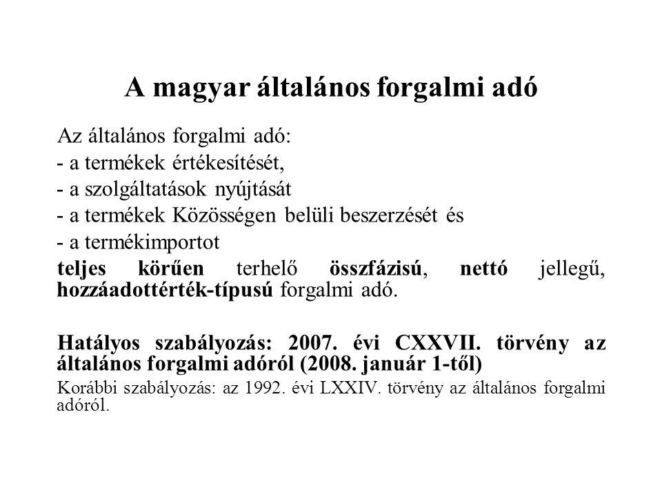 A magyar általános forgalmi adó