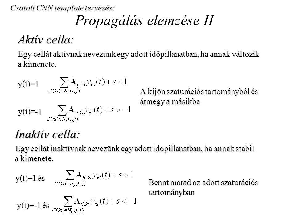 Propagálás elemzése II