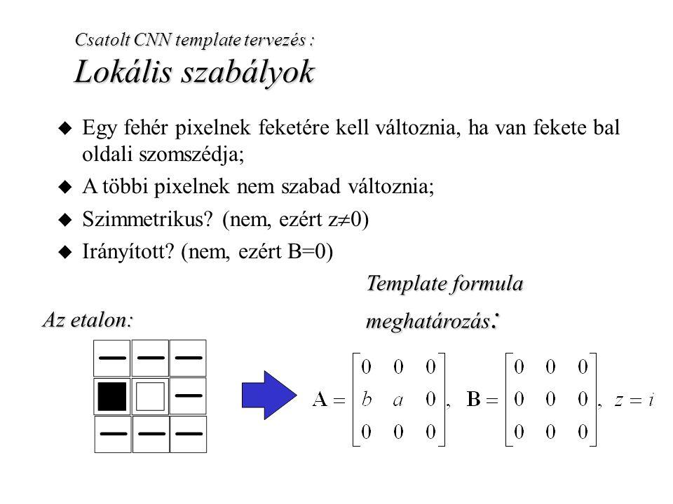 A többi pixelnek nem szabad változnia; Szimmetrikus (nem, ezért z0)