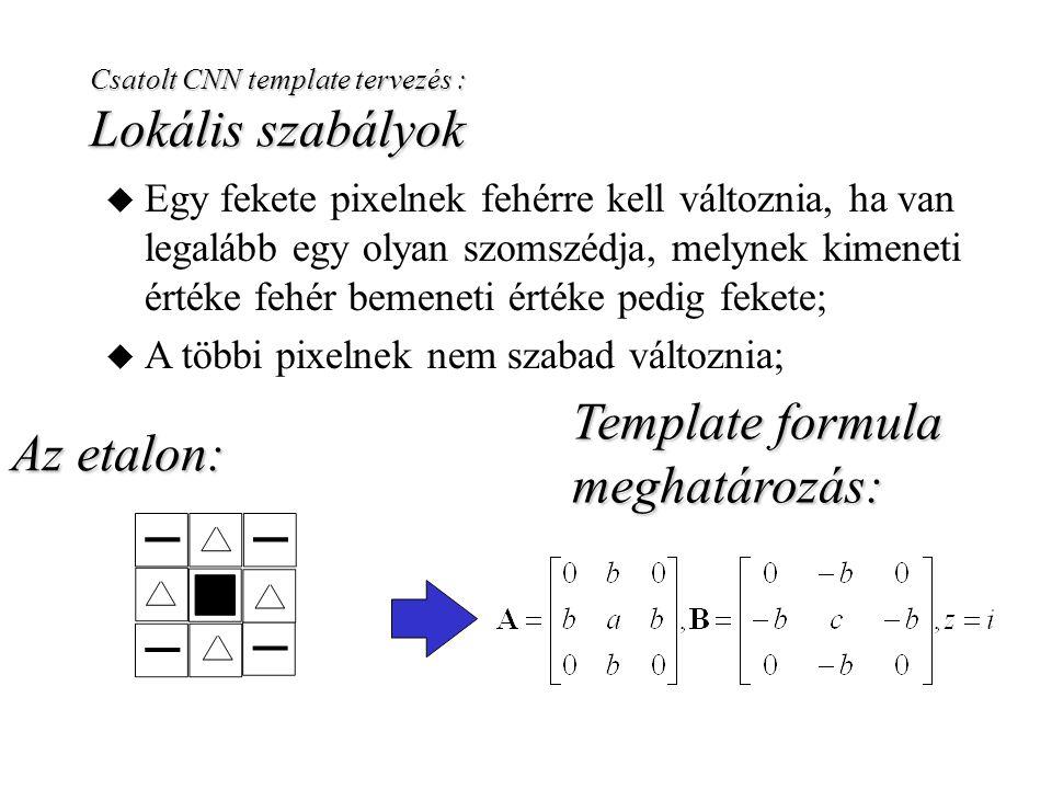 Template formula meghatározás: