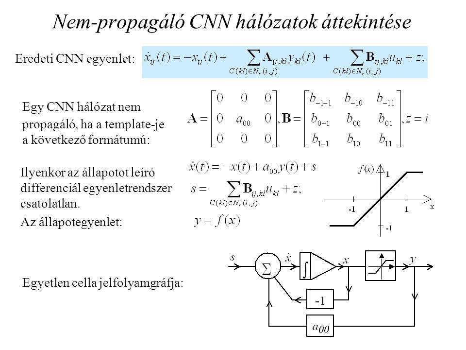 Nem-propagáló CNN hálózatok áttekintése