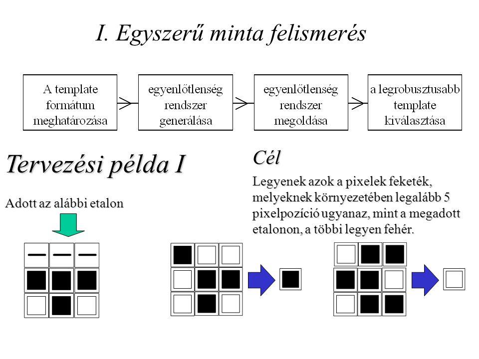 I. Egyszerű minta felismerés