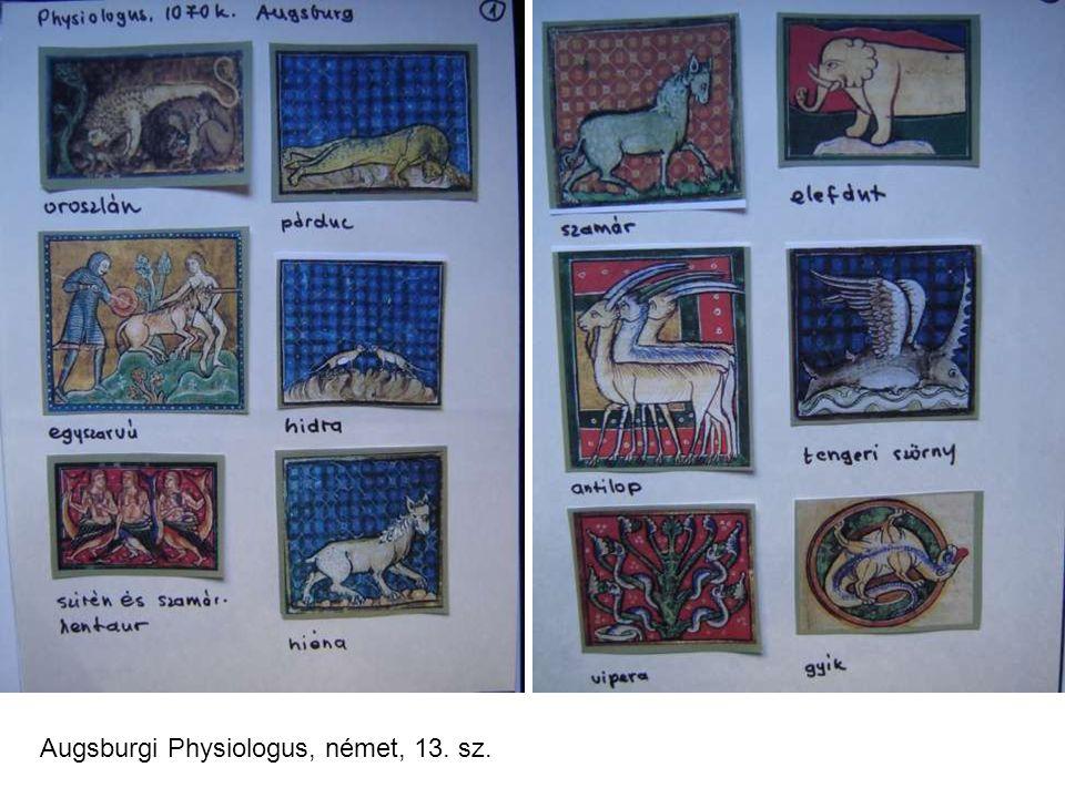 Augsburgi Physiologus, német, 13. sz.