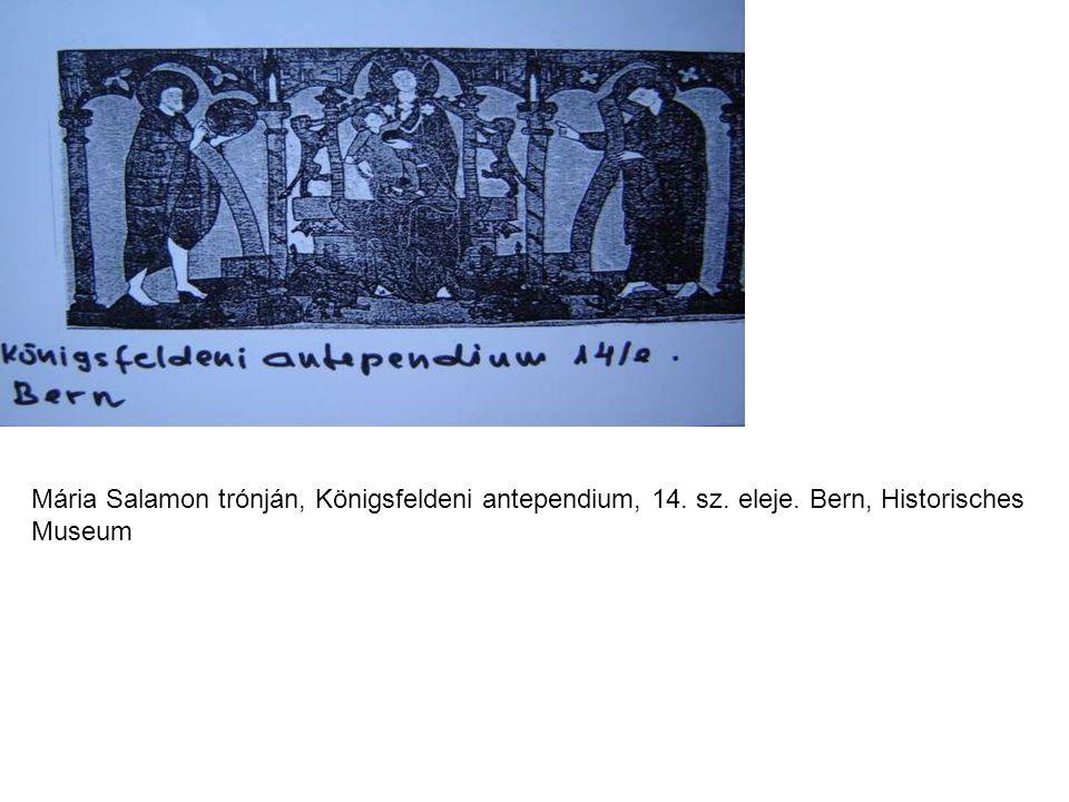 Mária Salamon trónján, Königsfeldeni antependium, 14. sz. eleje