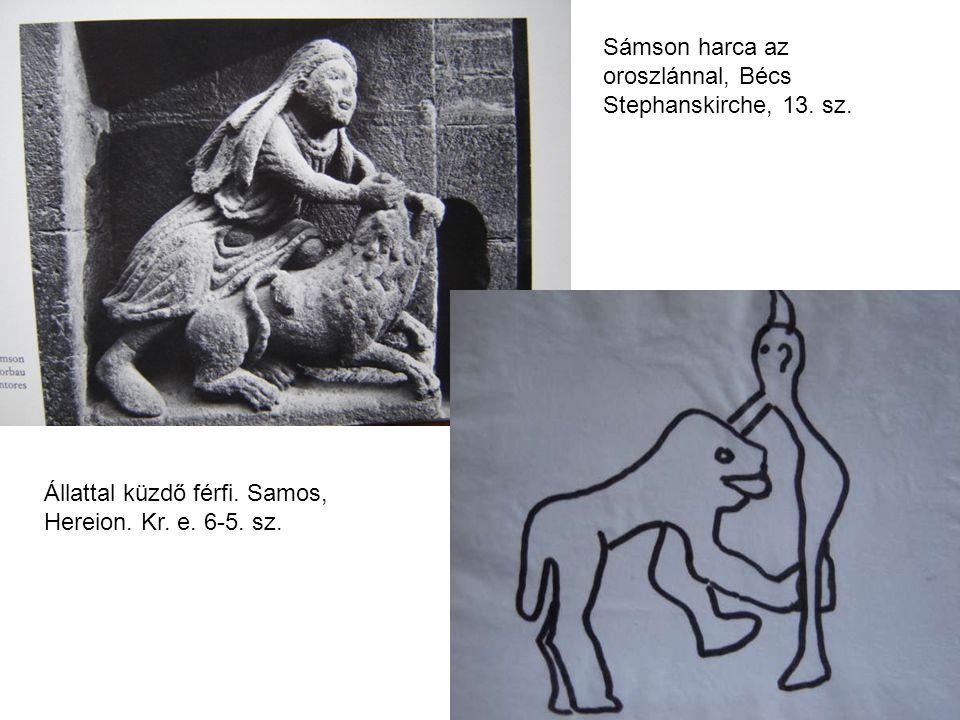 Sámson harca az oroszlánnal, Bécs Stephanskirche, 13. sz.