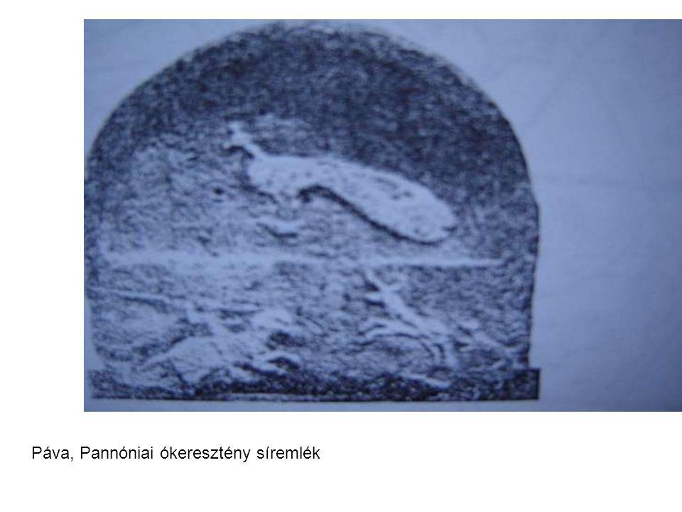Páva, Pannóniai ókeresztény síremlék