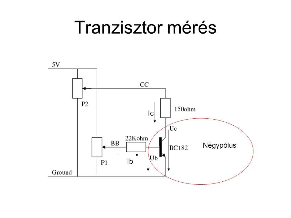 Tranzisztor mérés Ic Négypólus Ib