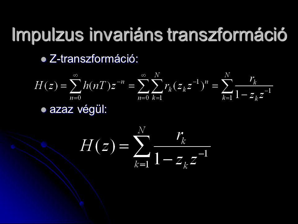 Impulzus invariáns transzformáció