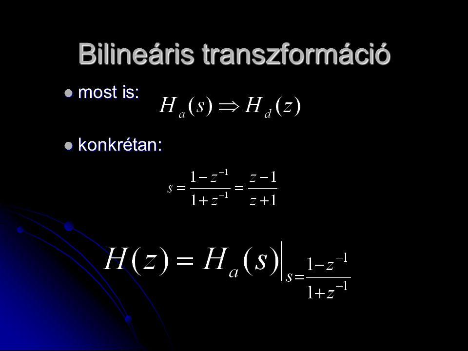 Bilineáris transzformáció