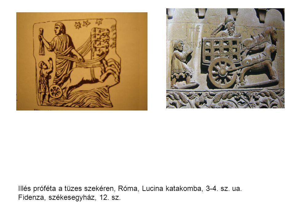 Illés próféta a tüzes szekéren, Róma, Lucina katakomba, 3-4. sz. ua