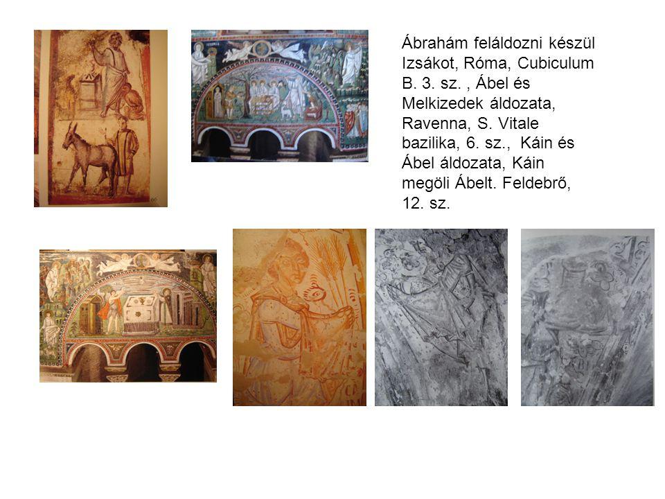 Ábrahám feláldozni készül Izsákot, Róma, Cubiculum B. 3. sz