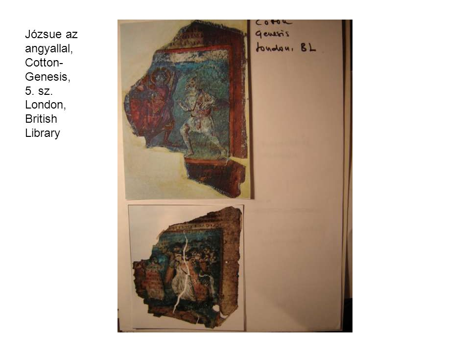 Józsue az angyallal, Cotton-Genesis, 5. sz. London, British Library