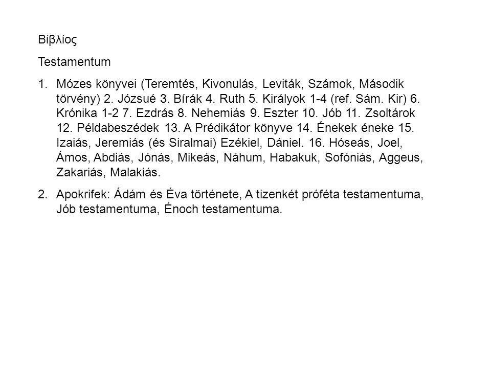 Βίβλίος Testamentum.