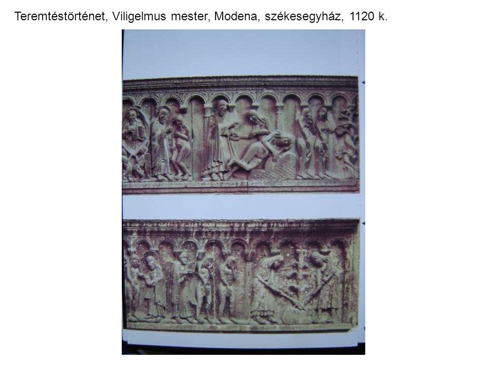 Teremtéstörténet, Viligelmus mester, Modena, székesegyház, 1120 k.