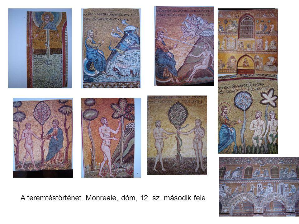 A teremtéstörténet. Monreale, dóm, 12. sz. második fele