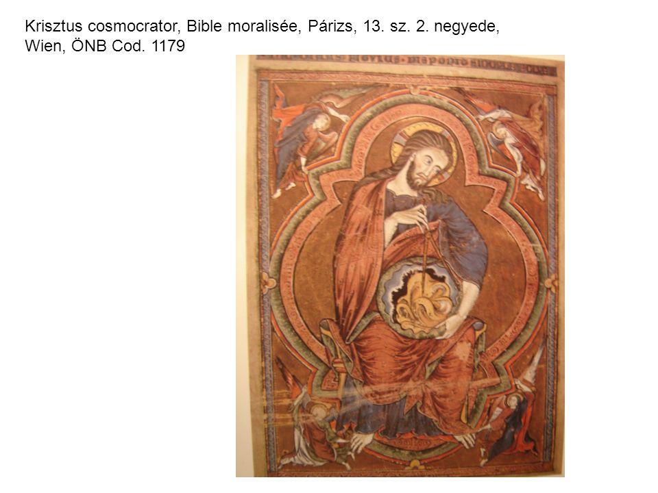 Krisztus cosmocrator, Bible moralisée, Párizs, 13. sz. 2