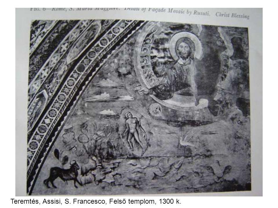 Teremtés, Assisi, S. Francesco, Felső templom, 1300 k.