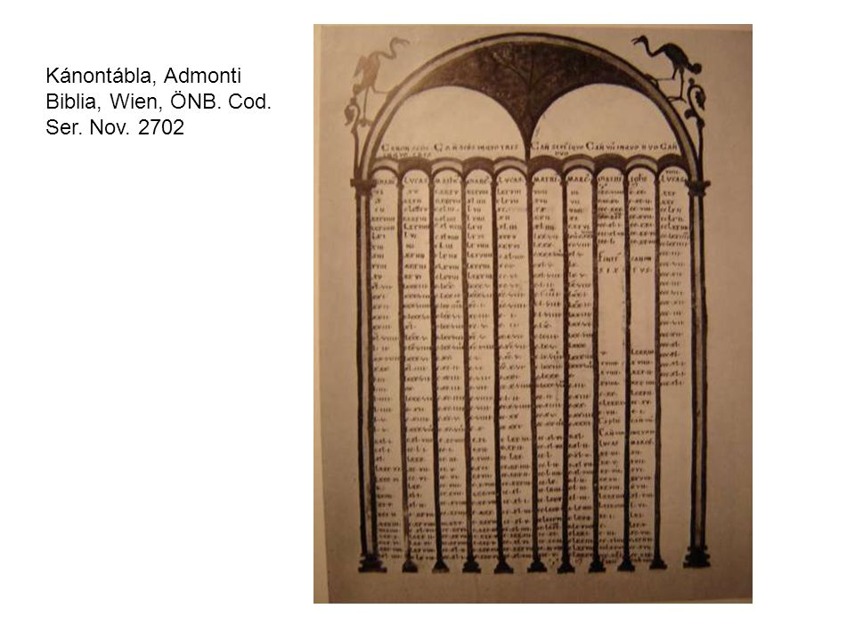Kánontábla, Admonti Biblia, Wien, ÖNB. Cod. Ser. Nov. 2702