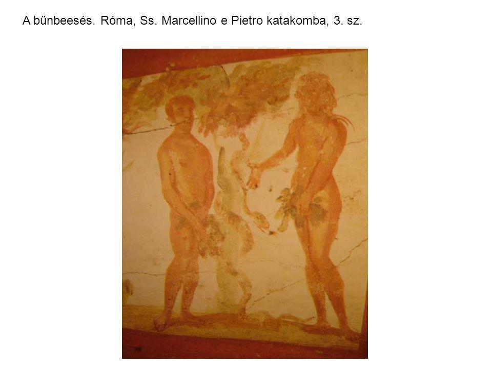 A bűnbeesés. Róma, Ss. Marcellino e Pietro katakomba, 3. sz.