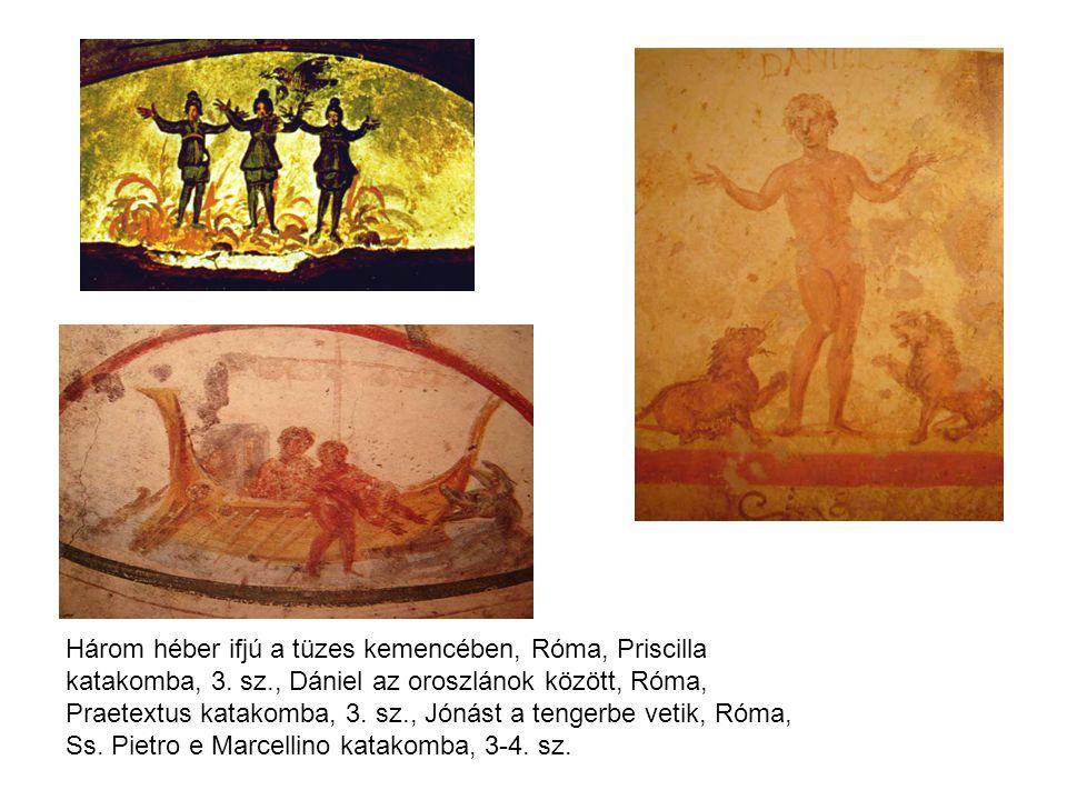 Három héber ifjú a tüzes kemencében, Róma, Priscilla katakomba, 3. sz