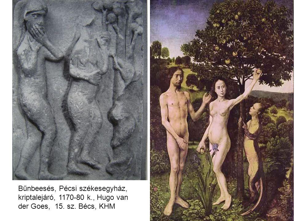 Bűnbeesés, Pécsi székesegyház, kriptalejáró, 1170-80 k