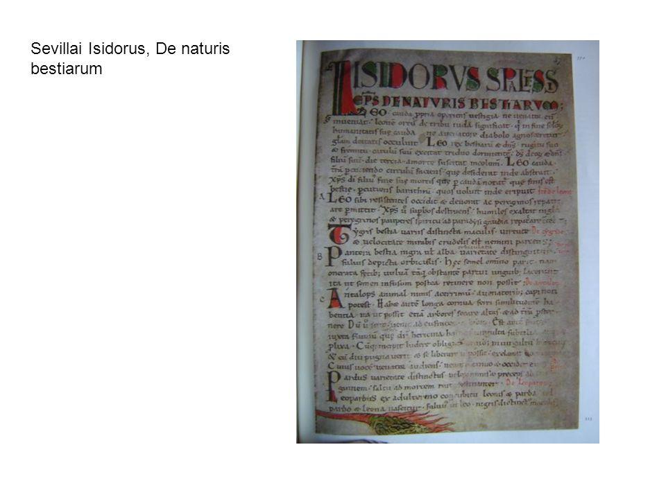 Sevillai Isidorus, De naturis bestiarum