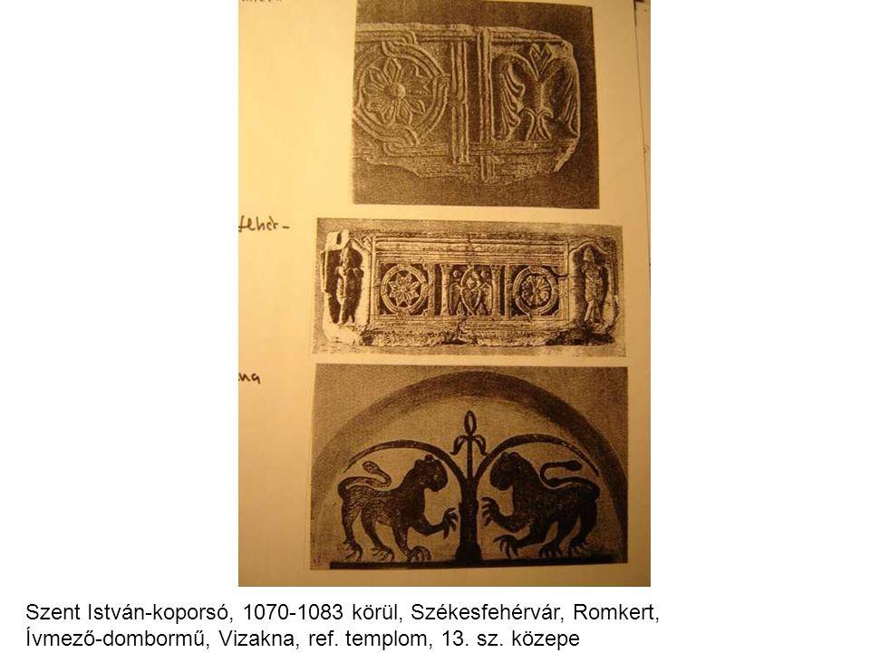 Szent István-koporsó, 1070-1083 körül, Székesfehérvár, Romkert, Ívmező-dombormű, Vizakna, ref.