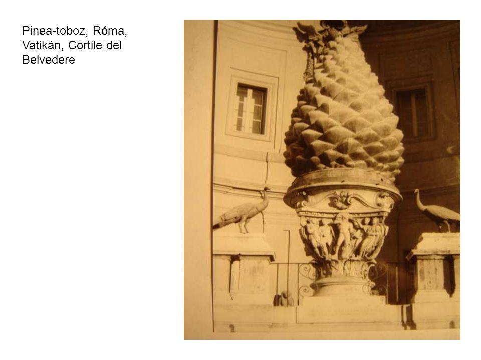 Pinea-toboz, Róma, Vatikán, Cortile del Belvedere