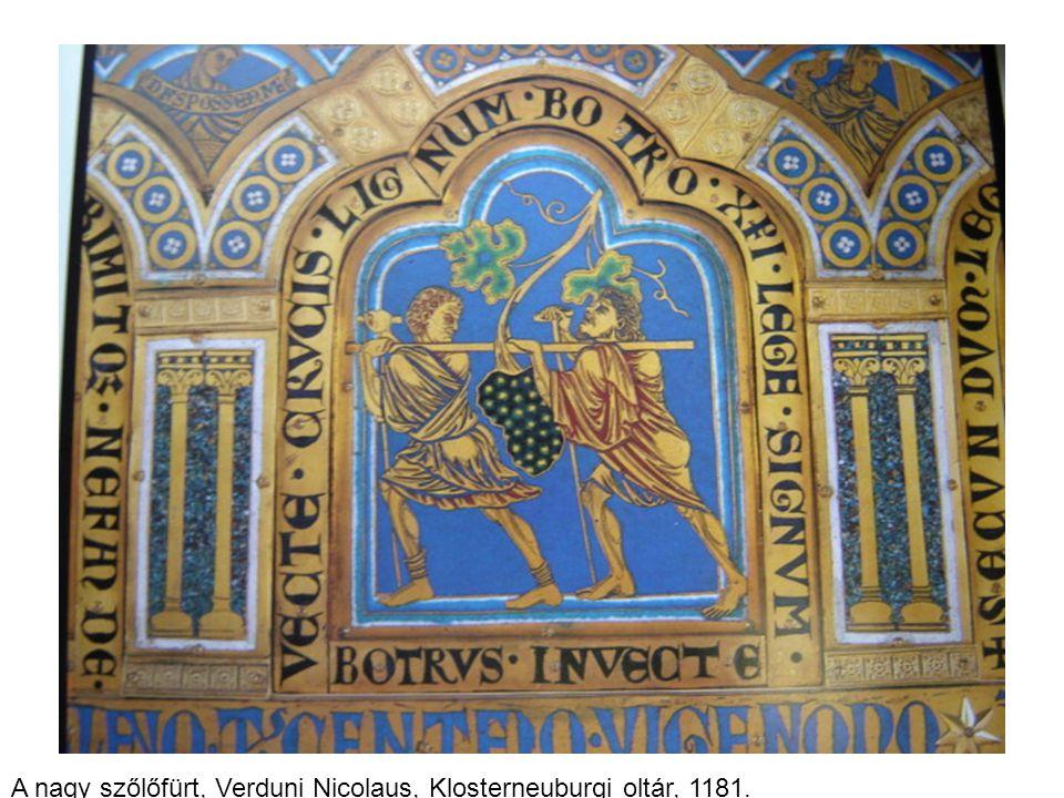 A nagy szőlőfürt, Verduni Nicolaus, Klosterneuburgi oltár, 1181