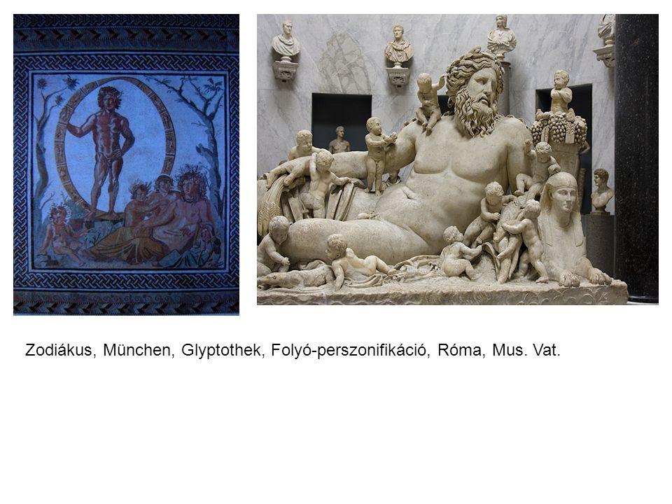 Zodiákus, München, Glyptothek, Folyó-perszonifikáció, Róma, Mus. Vat.